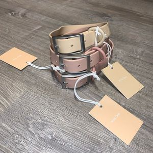 Wild one dog collar, blush and tan, (lot of 3)